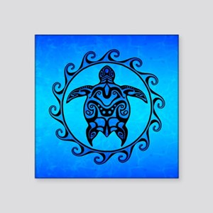 Maori Ocean Blue Turtle Sticker