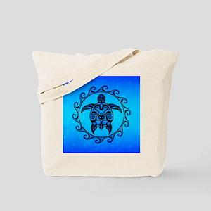 Maori Ocean Blue Turtle Tote Bag