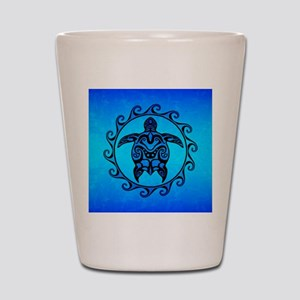 Maori Ocean Blue Turtle Shot Glass