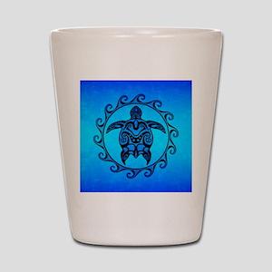 Maori Ocean Blue Turtle Shot Glass