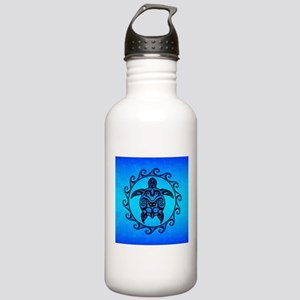 Maori Ocean Blue Turtle Water Bottle