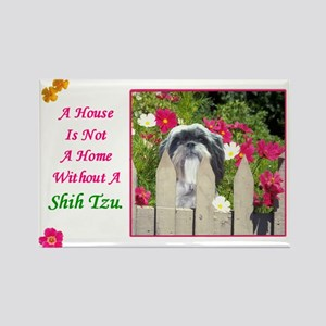 Shih Tzu (Black & White) Rectangle Magnet