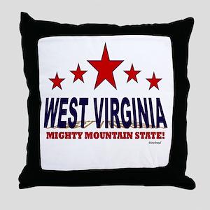 West Virginia Mighty Mountain State Throw Pillow