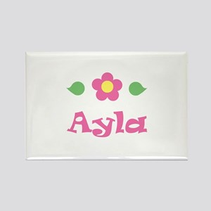 "Pink Daisy - ""Ayla"" Rectangle Magnet"