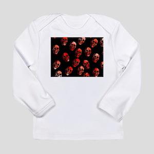 skulls red Long Sleeve T-Shirt