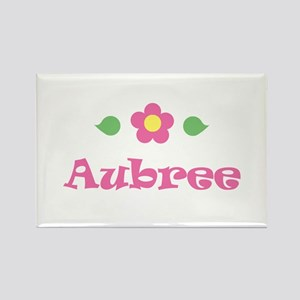 """Pink Daisy - """"Aubree"""" Rectangle Magnet"""