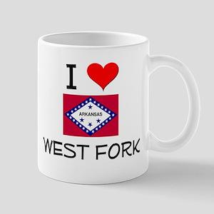 I Love WEST FORK Arkansas Mugs