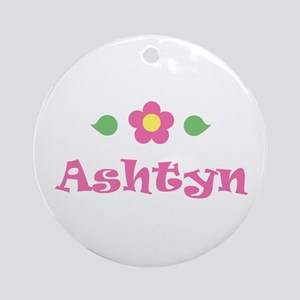 "Pink Daisy - ""Ashtyn"" Ornament (Round)"