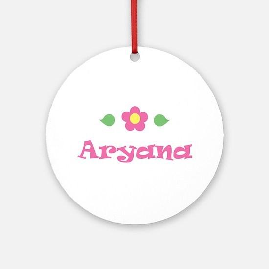 "Pink Daisy - ""Aryana"" Ornament (Round)"