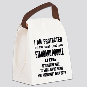 I am protected by the good lord a Canvas Lunch Bag