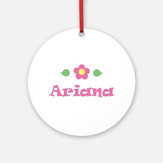 """Pink Daisy - """"Ariana"""" Ornament (Round)"""