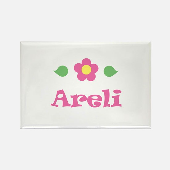 """Pink Daisy - """"Areli"""" Rectangle Magnet"""