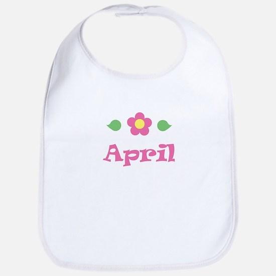 """Pink Daisy - """"April"""" Bib"""