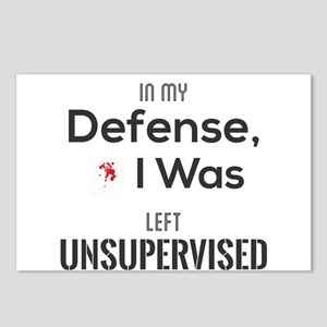 In My Defense, I Was Left Postcards (Package of 8)