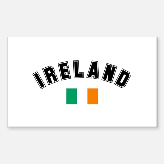 Irish Flag Rectangle Decal