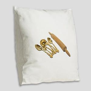 GoldwareRollingPin061111 Burlap Throw Pillow