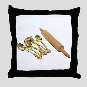 GoldwareRollingPin061111 Throw Pillow