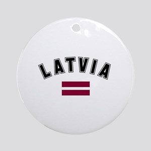 Latvian Flag Ornament (Round)