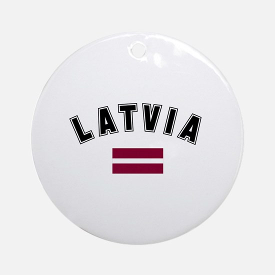 Latvian Flag Ornament (Round)