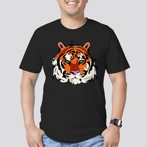 Tiger (Face) Men's Fitted T-Shirt (dark)