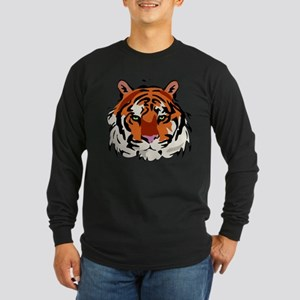 Tiger (Face) Long Sleeve Dark T-Shirt