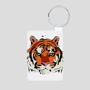 Tiger (Face) Aluminum Photo Keychain