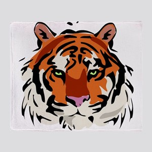 Tiger (Face) Throw Blanket