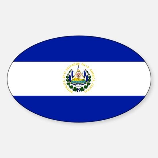 El Salvador flag Oval Decal