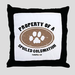 Goldmation dog Throw Pillow