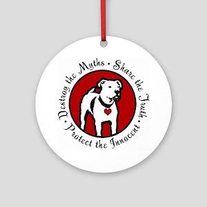 Response-a-Bull Rescue Logo Ornament (Round)