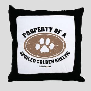 Golden Sheltie dog Throw Pillow