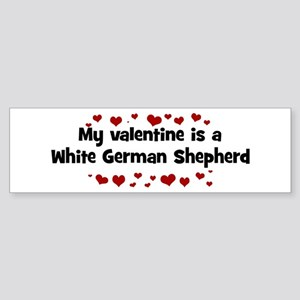 White German Shepherd valenti Bumper Sticker