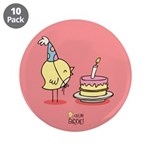 "Happy birthday! 3.5"" Button (10 pack)"