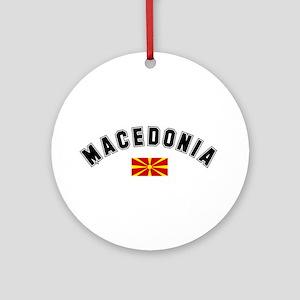 Macedonian Flag Ornament (Round)