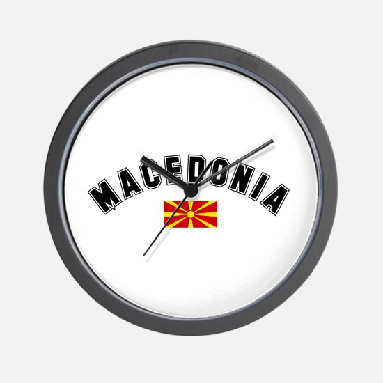 Macedonian Flag Wall Clock