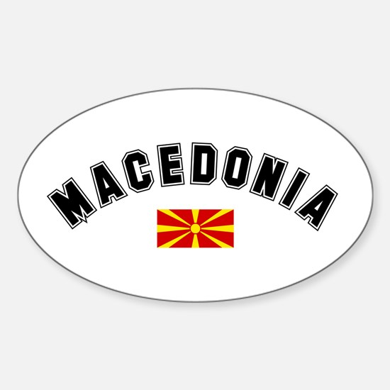 Macedonian Flag Oval Decal
