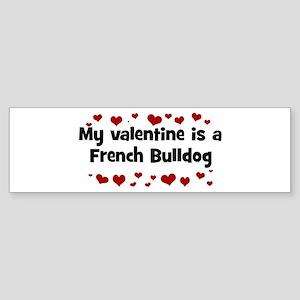 French Bulldog valentine Bumper Sticker
