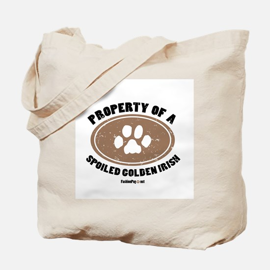 Golden Irish dog Tote Bag