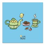 Its always tea-time! Square Car Magnet 3
