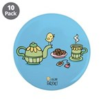 "Its always tea-time! 3.5"" Button (10 pack)"