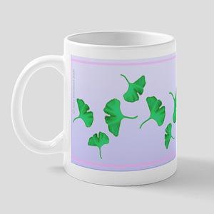 Ginko Leaves Mug - blue