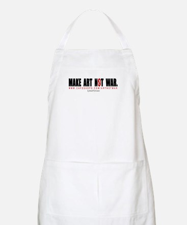 MAKE ART NOT WAR BBQ Apron by shonnaSTYLE Couture