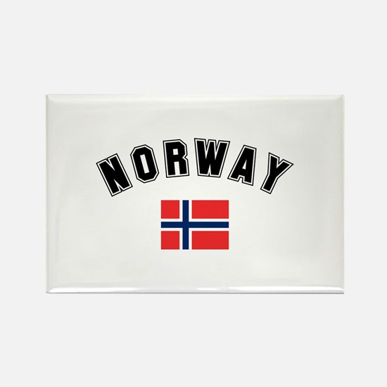 Norwegian Flag Rectangle Magnet (10 pack)