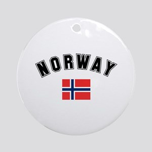 Norwegian Flag Ornament (Round)