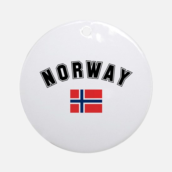 Norwegian Flag Ornament (Round)