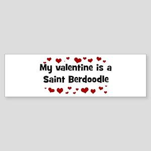 Saint Berdoodle valentine Bumper Sticker