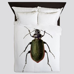 Calosoma Scrutator Beetle Queen Duvet