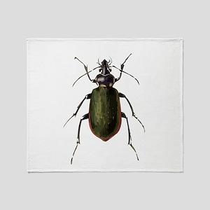 Calosoma Scrutator Beetle Throw Blanket