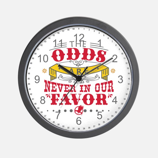 The Odds Are Never In Our Favor Wall Clock