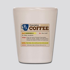 Prescription Coffee Shot Glass